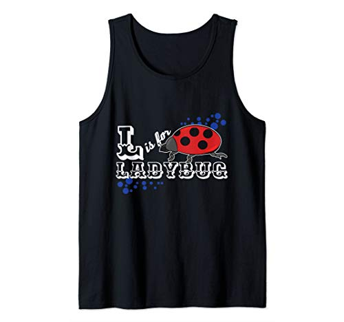 L Is For Ladybug Lover Gift Insect Bug  Tank Top