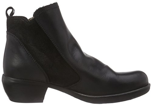 Women's Meli London Black Boot Fly 5p7Bxfwqf