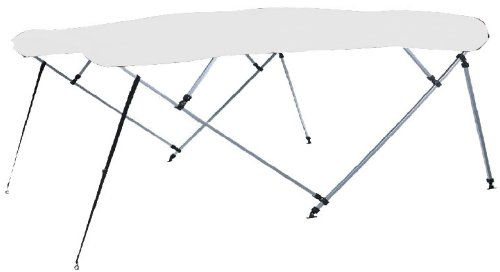 Carver Bimini Top Frame (Carver Covers 401WV 3 Bow Bimini Top 61-66In Wh Vinyl Canvas (Canvas and Protective Boot Only - No Frame) Made by Carver)