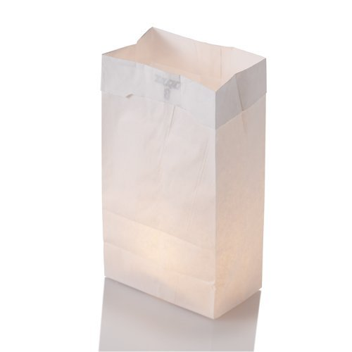 Set of 125 White Luminary Bags and 125 Richland Tealight -