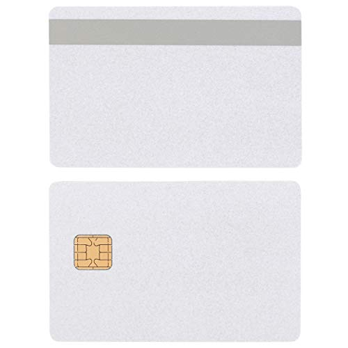 J2A040 Java JCOP Chip Cards Pearl w/HiCo Silver 2 Track Mag Stripe JCOP21-36K - 100 Pack