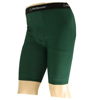 McDavid 750T Men's Pro Model Football Compression Girdle Shorts Dark Green XL B005BTK5RS