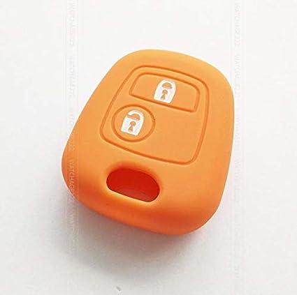 Llavero de silicona con 2 botones para Citroen C1 C2 C3 C4 ...