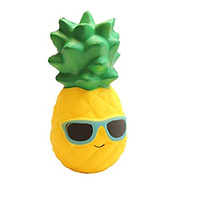 Curious Minds Busy Bags Large Pineapple Squishy Slow Rise Fruit Food Face - Sensory, Stress, Fidget Toy: Toys & Games
