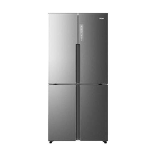 Haier 16.0 Cu. Ft. 4 Door Bottom Freezer Refrigerator Stainless Steel