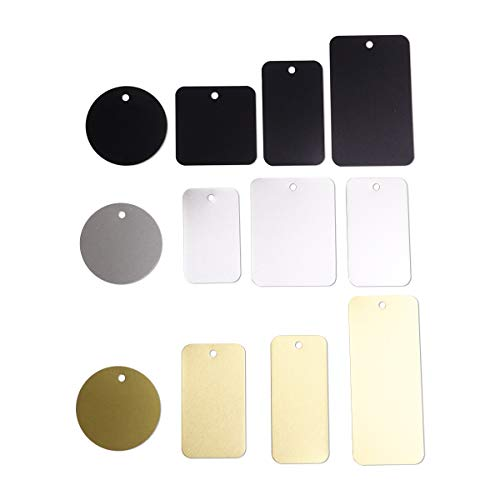 Dog Tag Engraving Plate Assortment 12 Piece Anodized Aluminum 3 Colors