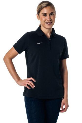 bc30ad0976818 Amazon.com  Nike Dri-Fit Moisture Wicking Women s Polo Shirt - Black ...