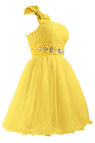 Sweet A da abito Sunvary abiti da Organza Cocktail Line sera Yellow abito xt7wHwd