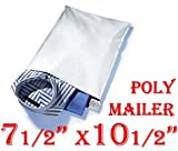 500 (Five Hundred S2 (Dimension 7 1/2'' X 10 1/2'') Poly Mailers) Tear-proof, Water-resistant and Postage-saving Lightweight Self-seal Poly Mailers/ Shipping Bags.