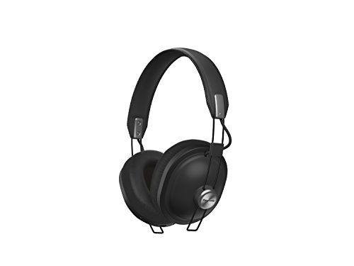 PANASONIC Wireless Retro Over-The-Ear Headphones with Bluetooth 24-Hour Playback Color Matte Black (RP-HTX80B-K)