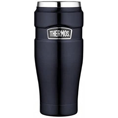 Thermos Stainless King 16-Ounce Travel Tumbler, Midnight Blue (Travel Coffee Mug 16 Ounce)
