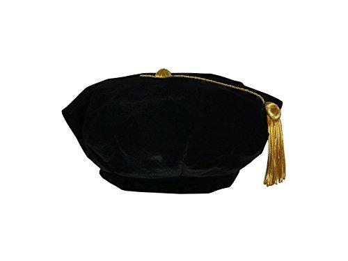 CollegeFashion 8 sided velvet Tam black (Masters Tam)