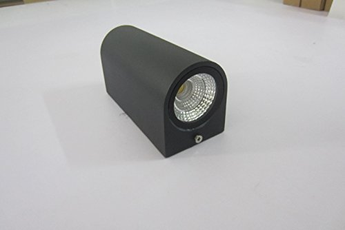 Up Down Out Door Wall Light COB LED Wall Lamp Up and Down 6W Aluminum Round Wall Light Modern Home Lighting Indoor Outdoor Decoration AC 110-220V IP54 Warm White, Black housing ZYI OL-8004