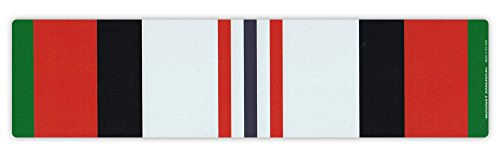 Magnetic Bumper Sticker - Afghanistan War Service Ribbon - Conflict Service Bar - 10