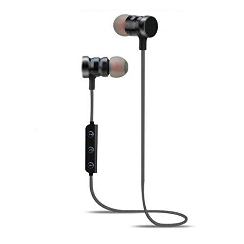 Didade Sweatproof Fitness General Stereo in-Ear Earphones Earbuds Handsfree M9 Bluetooth Sport Wireless Headset (Black)