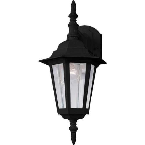Maxim Lighting Builder Cast Black 1-Light Outdoor Wall-Mounted Lantern 3002CLBK