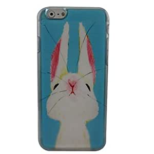 WQQ Lovely Rabbit Plastic Hard Back Cover for iPhone 6 Plus