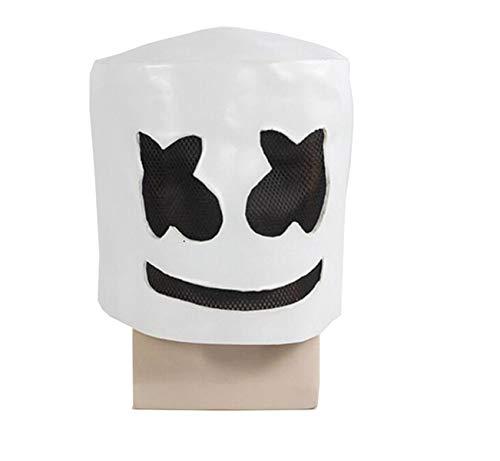 MostaShow DJ Marshmello Mask Latex Full Face Costume
