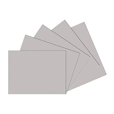 School Smart 80 pound Drawing Paper - 18 x 24 inches - Pack of 500 - Gray