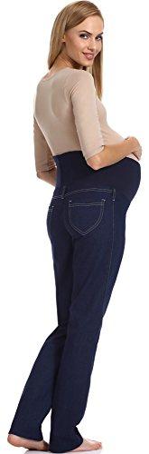 Be Mammy Pantalones de maternidad para mujer GX209 Azul Scuro