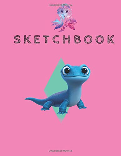 SketchBook  Disney Frozen 2 Cute Salamander Bruni Long Sleeve Disney Frozen Blank Sketchbook For Girls With 110 Pages Of 8.5'x11' Blank Paper For ... Or Learning To Draw Sketch Books For Kids