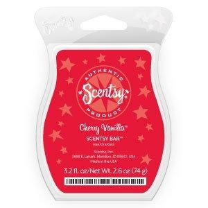 Cherry Vanilla Scentsy Bar Wickless Candle Tart Warmer Wax 3.2 Fl Oz, 8 Squares