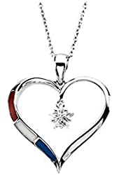 Heart Pendant with Chain in Sterling Silver