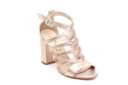 Scarpe italiane sandali alti oro