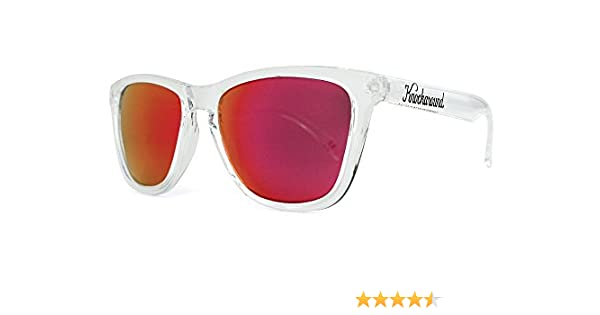Gafas de sol Knockaround Classic Premium Clear / Red Sunset: Amazon.es: Ropa y accesorios