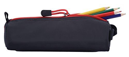Rough Enough colorato, targhetta nome,-Custodia per matita, colore: nero