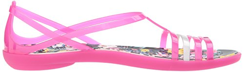 Sandal Crocs Pink Isabella Women's Graphic Candy Flat Tropical wBIq4