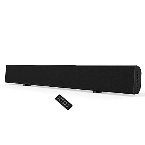 Soundbar, Wotmic TV Sound Bar Built-in Subwoofer 30-inch 2.0 Channel Wired and Wireless Home Theater Speaker System with Remote Control, Wall Mountable for TV PC Cellphone