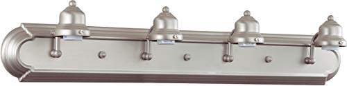 Craftmade 11730BN4 Racetrack Arch Arm Vanity Wall Lighting, 4-Light, 240 Watts, Brushed Satin Nickel (30