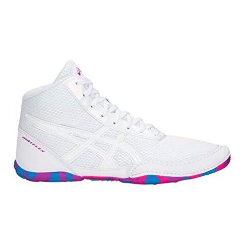 Price comparison product image ASICS Matflex 5 Gs White/White/Multi Wrestling Shoes 6