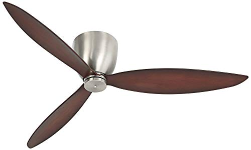 52 Casa Orbitor Modern Hugger Low Profile Ceiling Fan with Wall Control Flush Mount Brushed Steel for Living Room Kitchen Bedroom Family Dining – Casa Vieja