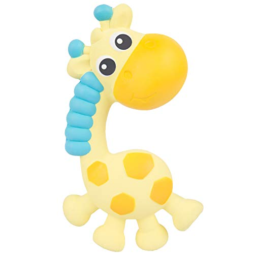 (Playgro 100% Natural Rubber Latex Squeak and Soothe Natural Teether 0186970 BPA Free & PVC Free, Hygienically Sealed to prevent Mold, Playgro is Encouraging Imagination w STEM/STEM for a bright)
