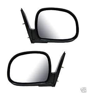 1994 - 1998 Chevrolet S10 Black Foldaway Manual Mirror (below eyeline) Set. Left Hand Drivers And Right Passengers Mirrors for 1994 1995 1996 1997 1998 Chevy S10 Pair for LH and RH Outside Mirror fitting 94 95 96 97 98