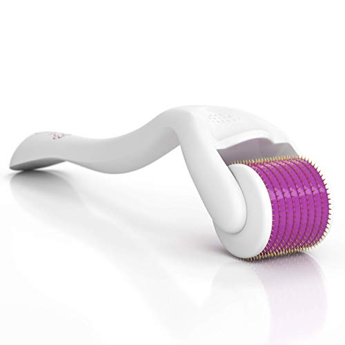 - Facial Skin Care Tool for Face - Micro Needle Roller - 540 Deluxe Titanium Micro Needles - Titanium Microneedle Roller - Perfect Cosmetic Microneedling Skin Roller ()