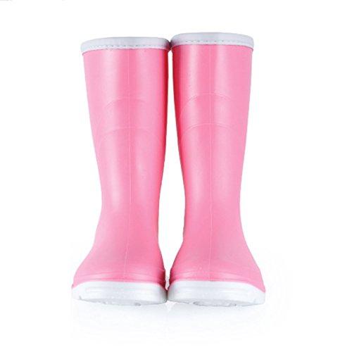 Womens Calf Rain Rainboots Pink PVC Waterproof Shoes Topfly Snow Mid FYnpdwYAq