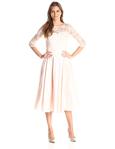 Jessica Howard Women's Lace Bodice Fit and Flare