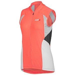 Louis Garneau Women's Beeze Vent Sleeveless Jersey Coral Mania T-Shirt XS Garneau Sleeveless Jersey