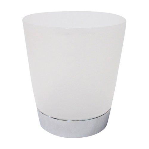InterDesign Aria Wastebasket Trash Can, Clear/Chrome