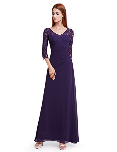 Ever-Pretty Womens Formal Long Mother Of The Bride Dress 6 US Dark Purple
