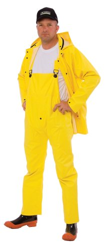 - Cordova Safety Products CRS353Y3XL StormFront 3 Piece Rain Suit with Detachable Hood, Yellow, 3X Large