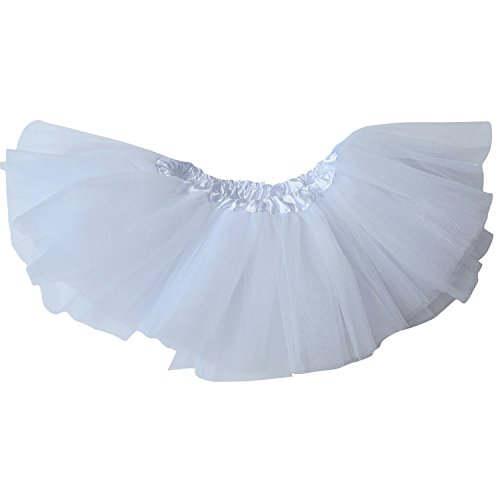 White Tutu Ballet Costume (So Sydney Premium 5 Layer Girls Dance Dress-Up Ballet Costume Dance Tutu Skirt (White))
