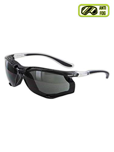 Magid Glove & Safety Y84BKAFGY Gemstone Onyx Sporty Foam Lined Safety Glasses, Clear Frame with TPR Black Temples (1 Pair)
