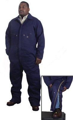 Stanco 3X Navy Blue 9 Ounce Indura® Flame Resistant Coverall With Front Zipper Closure And Elastic Waistband - Indura Flame Resistant Coverall
