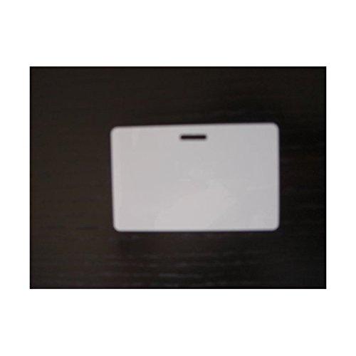 100 Blank PVC Plastic Photo ID Horizontal Slot Punch Card 30Mil