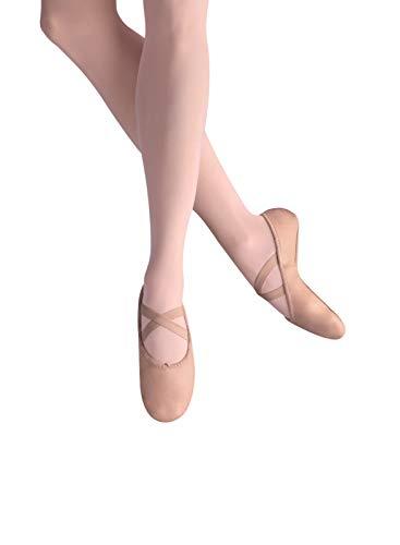 Leo Women's Ensemble Split Sole Dance Shoe, Ballet Pink, 7 D US