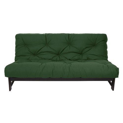 Mozaic AMZ-FS0011 Full Size 8-inch Futon Mattress, Hunter Green